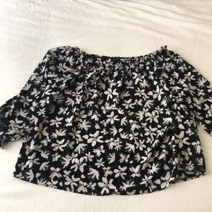 Worn once. Banana Republic black and white top